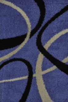 SHAGGY 0681 L.BLUE BLACK